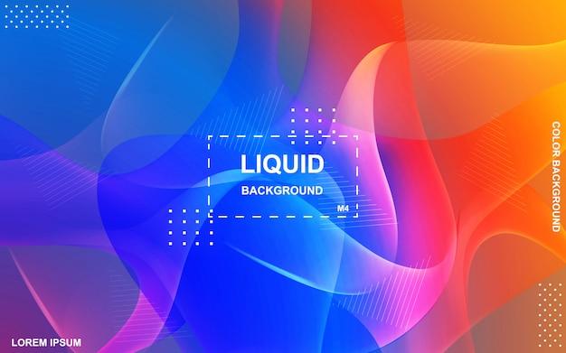 Vloeibaar kleurenontwerp als achtergrond