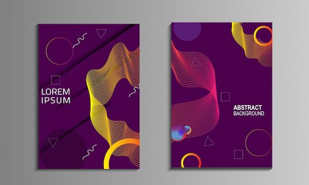 Vloeibaar kleurrijk omslagboek