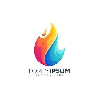 Vloeibaar vuur logo ontwerp