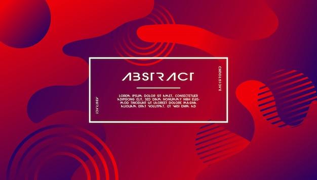 Vloeibare abstracte achtergrond met cirkel lijnen vorm rood.