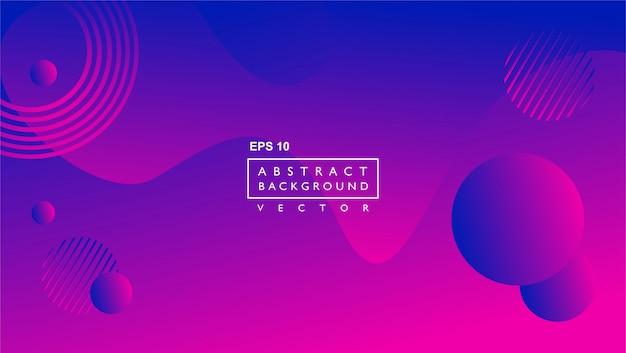 Vloeibare abstracte achtergrond sjabloon. met cirkel en lijnen vorm. purper