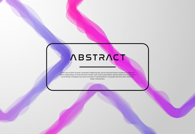 Vloeibare abstracte kleurrijke lijnachtergrond