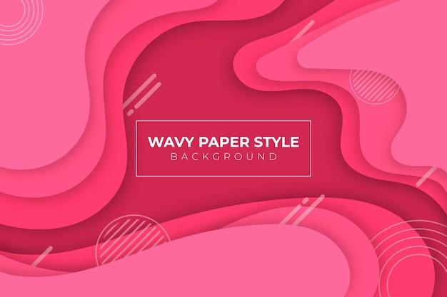 Vloeibare achtergrond in papierstijl