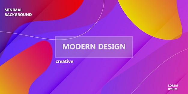 Vloeibare achtergrond vloeibare gradiëntvorm. abstracte kleurrijke minimale banner van het affiche moderne malplaatje. dynamische geometrische digitale element grafische plonsbeweging