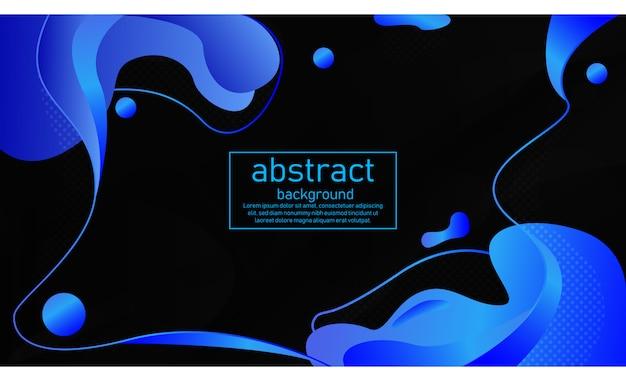 Vloeibare blauwe gradatie met zwarte achtergrond