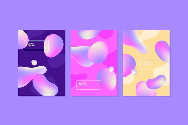 Vloeibare bubbels abstract voorbladsjabloon