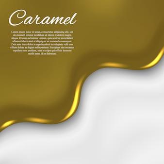 Vloeibare karamel achtergrond