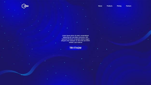 Vloeibare kleurenachtergrond voor webpagina van de bestemmingspagina