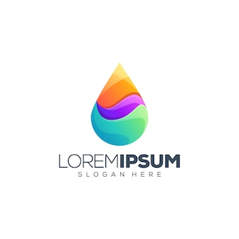 Vloeibare logo ontwerp vectorillustratie