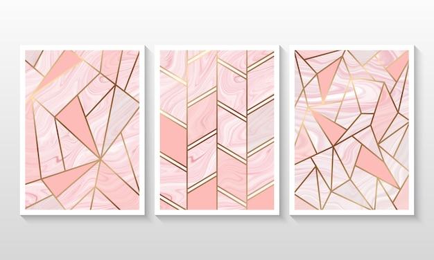 Vloeibare marmeren achtergrond met lijn geometrische vorm