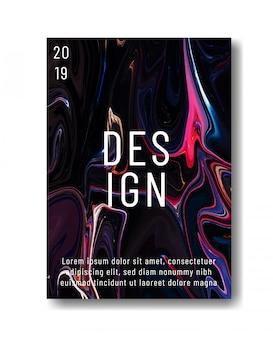 Vloeibare marmeren textuur cover, poster of flyer sjabloonontwerp