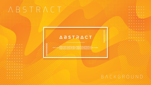 Vloeibare oranje achtergrond met 3d-stijl.