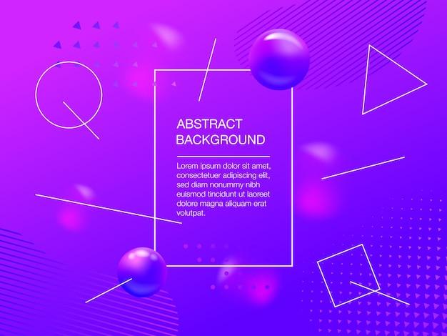 Vloeibare paarse kleur achtergrondontwerp. vloeiende gradiënt en geometrische vormensamenstelling. futuristische vectorillustratie met copyspace