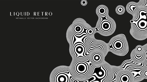Vloeibare retro 3d zebra metaball, met organische structuur.
