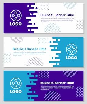 Vloeibare vormen zakelijke banner