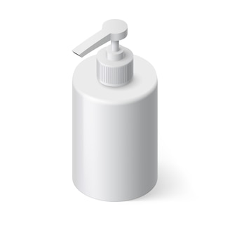 Vloeibare zeep isometrische illustratie