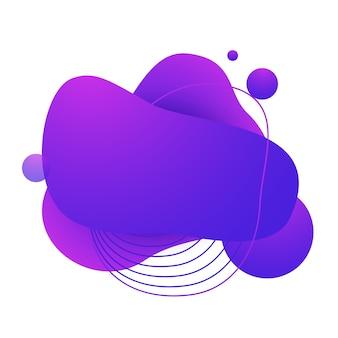 Vloeiende badge voor app