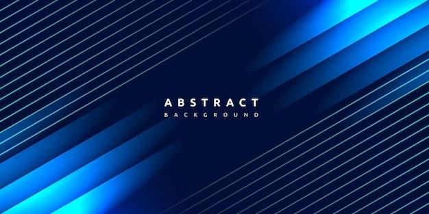 Vloeiende blauwe vorm en lijnstreep backgrond