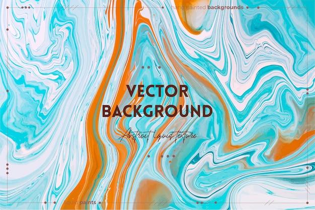 Vloeiende kunst textuur abstract met verf effect vloeibare acryl gemengde verf achtergrond.