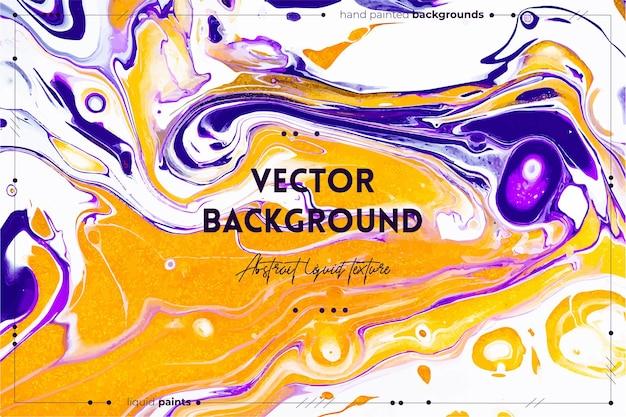Vloeiende kunsttextuur abstracte achtergrond met het mengen van verfeffect vloeibaar acrylkunstwerk met stromen en...