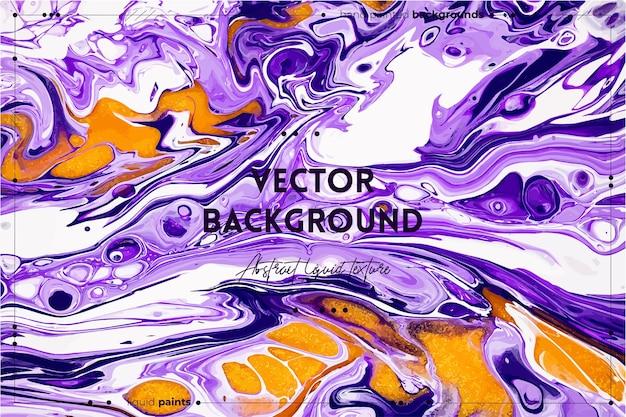 Vloeiende kunsttextuurachtergrond met abstract mengverfeffect vloeibaar acrylkunstwerk met stromen en s ...