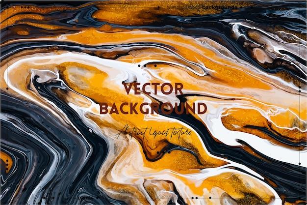 Vloeiende kunsttextuurachtergrond met abstract wervelend verfeffect vloeibaar acrylbeeld met stromen en...