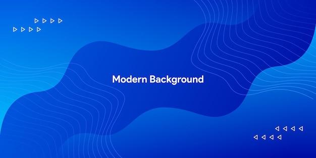 Vloeiende trendy moderne blauwe kromme achtergrond met glanzende elegante lijn