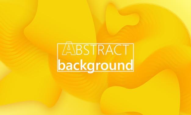 Vloeiende vormen. gele achtergrond. vloeiende kleur. vloeibare vorm. inkt splash.
