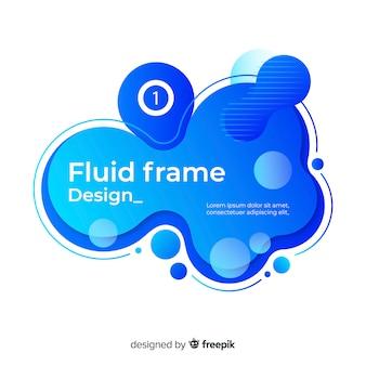 Vloeistof frame ontwerp