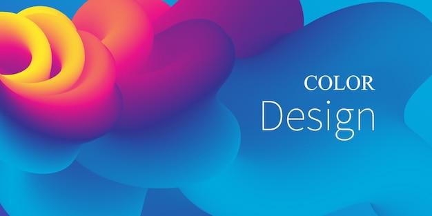 Vloeistof stroom achtergrond kleurrijke gradiënt abstracte dekking.