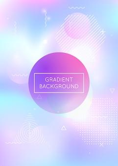 Vloeistof vormt achtergrond met vloeibare dynamische elementen. holographi