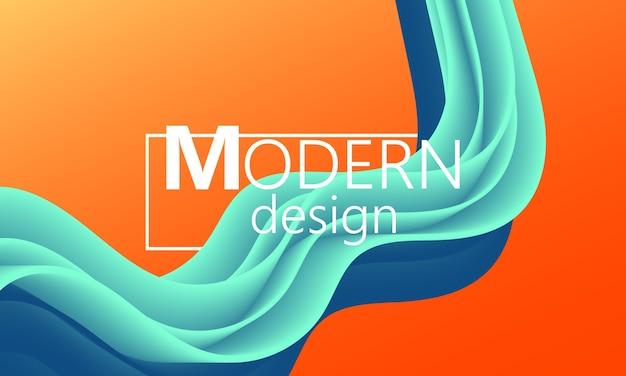 Vloeistofstroom. trendy kleurvorm. abstracte achtergrond.