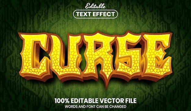 Vloektekst, bewerkbaar teksteffect in lettertypestijl