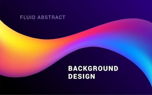 Vlotte kleurrijke vormen die trendy netwerkgradiënten samenstellen.