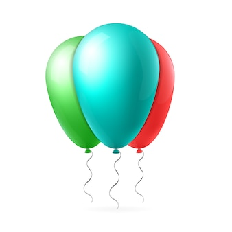Vluchtballon met lint.