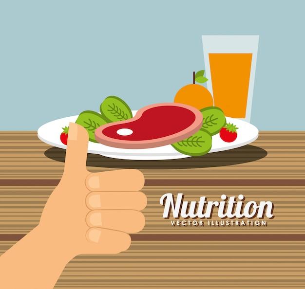 Voeding gezondheid ontwerp