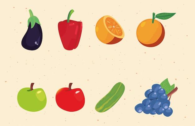 Voeding verse groenten en fruit