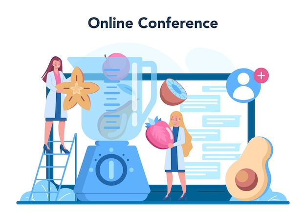Voedingsdeskundige online service of platform. voedingstherapie