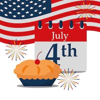 Voedsel amerikaanse onafhankelijkheidsdag