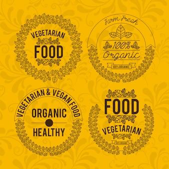 Voedsel badge ontwerp, vectorillustratie.