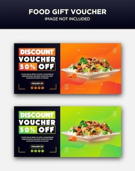 Voedsel cadeaubon ontwerp