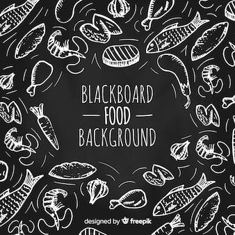 Voedsel doodle achtergrond