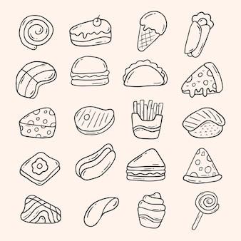 Voedsel doodle element