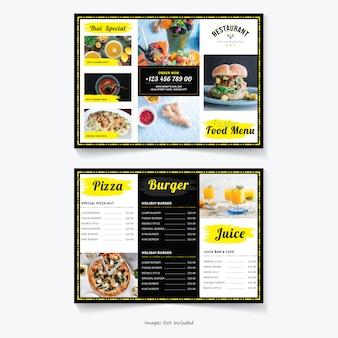 Voedsel driebladige brochure sjabloon
