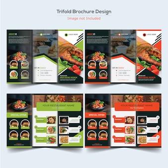 Voedsel driebladige brochureontwerp