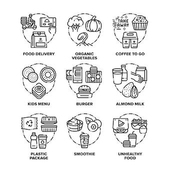 Voedsel eet pictogrammen instellen