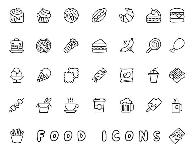 Voedsel hand getekend pictogram ontwerp illustratie