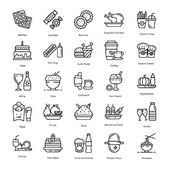 Voedsel icons set