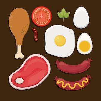 Voedsel infographic ontwerp