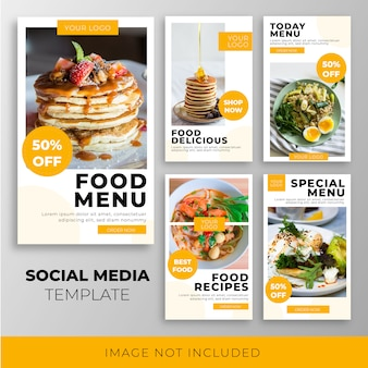 Voedsel instagram verhaal sjablooncollectie